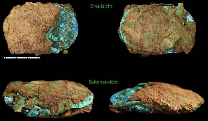 Abb. 11: Endzustand: Draufsicht und Seitensicht. © Landesamt für Denkmalpflege und Archäologie Sachsen-Anhalt, Friederike Hertel.