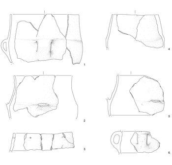 Abb. 4: Gefäße aus Ton. © Landesamt für Denkmalpflege und Archäologie Sachsen-Anhalt, Matthias Lindemann/A. Bock.