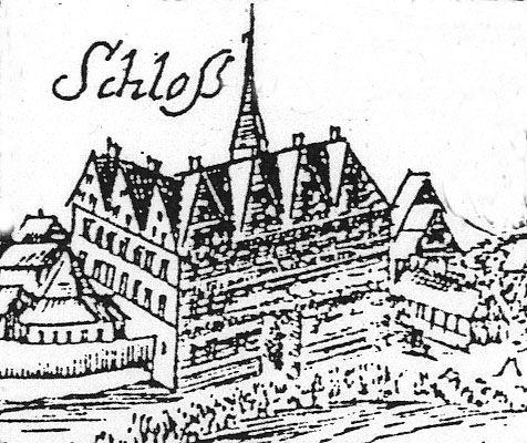 Abb. 4: Schloss (Ausschnitt aus »Calegia«). Schloss Calbe, Dieter H. Steinmetz CC-by-sa 2.0/de.