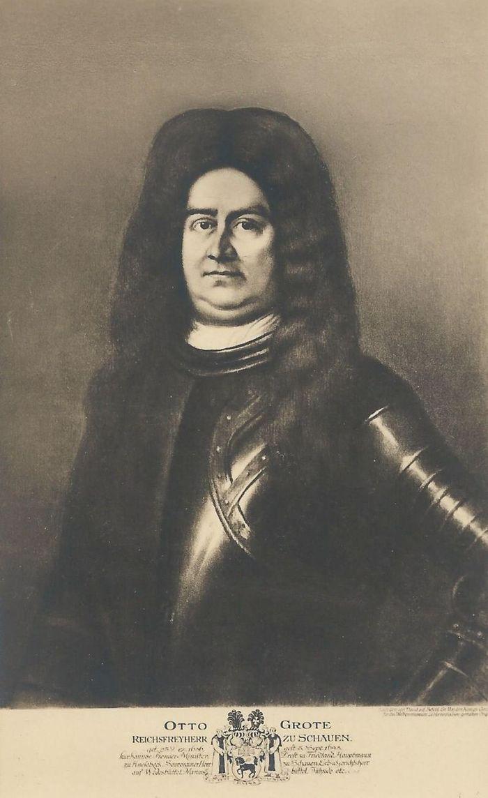 Abb. 2: Otto Grote, Reichsfreiherr zu Schauen (1636 bis 1693), alte Postkarte nach einem Gemälde im Besitz des Landesmuseums Hannover