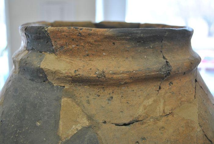 Abb. 3a: Libehna, Fundstelle 8. Detailfotos der Amphore: Halsleiste. © Landesamt für Denkmalpflege und Archäologie Sachsen-Anhalt, Andrea Moser.
