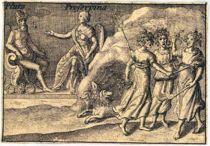 Abb. 1: Cerberos bewacht den Eingang zur Unterwelt (Wenceslas Hollar: Die griechischen Götter – Pluto). Wenzel Hollar, Public domain, via Wikimedia Commons.