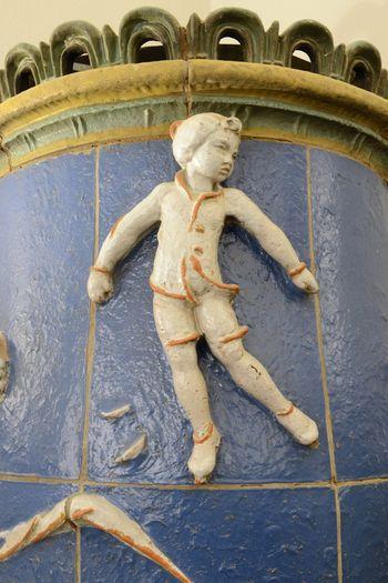 Abb. 2: Darstellung eines Schlittschuhläufers auf einer Ofenkachel. © Landesamt für Denkmalpflege und Archäologie Sachsen-Anhalt, Gunnar Preuß.