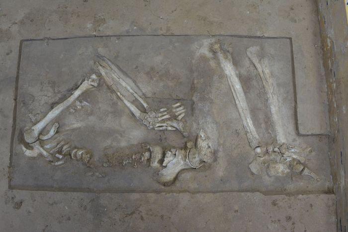 Abb. 14: Rückseite des Blocks. © Landesamt für Denkmalpflege und Archäologie Sachsen-Anhalt.
