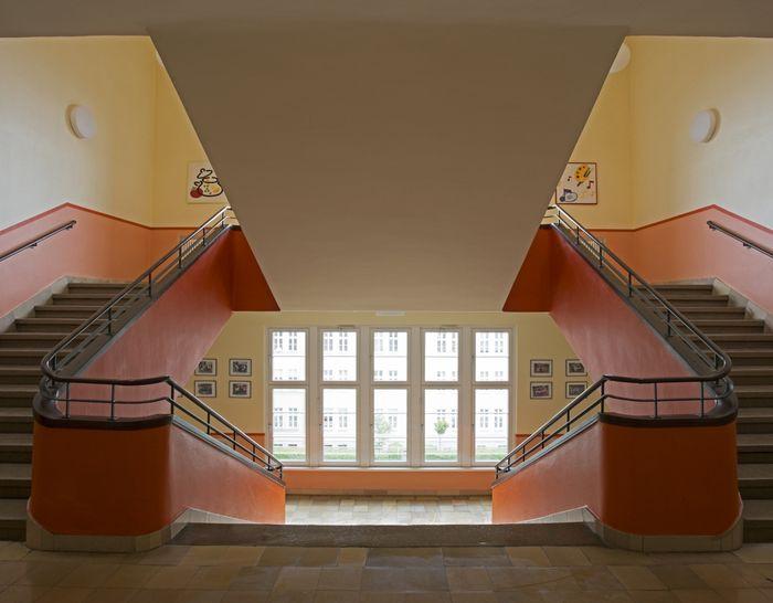 Abb. 2: Treppenhaus der Comeniusschule. © Landesamt für Denkmalpflege und Archäologie Sachsen-Anhalt.