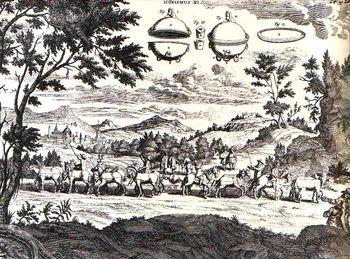 Abb. 5: Der berühmte Halbkugelversuch. Otto von Guericke: »Ottonis de Guericke Experimenta Nova (ut vocantur) Magdeburgica De Vacuuo Spatio«, Amsterdam 1772.