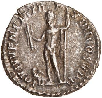 Abb. 3: Rückseite eines in Rom zwischen 188 und 189 geprägten Silber-Denars, der 1956 in »Tell Kalak« in Jordanien gefunden wurde. © American Numismatic Society.