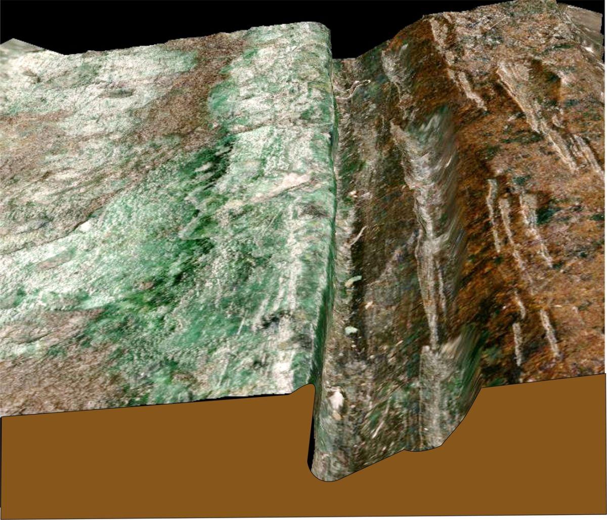 Abbildung 4: Mikroskopaufnahme der Tauschierrille. © Landesamt für Denkmalpflege und Archäologie Sachsen-Anhalt, Christian-Heinrich Wunderlich.