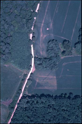 Abb. 1: Luftbildaufnahme der Befestigungsanlage. © Landesamt für Denkmalpflege und Archäologie Sachsen-Anhalt, Ralf Schwarz.