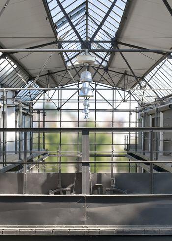 Abb. 2: Aufzugsystem und Schiebebühnen für die oberen Ebenen. © Landesamt für Denkmalpflege und Archäologie Sachsen-Anhalt.