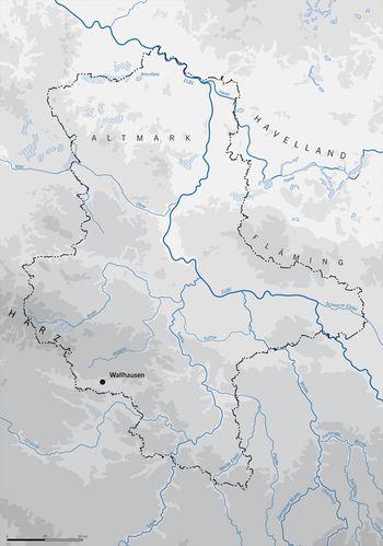 Abb. 4: Wallhausen befindet sich am Ostrand der »Goldenen Aue« in einer landwirtschaftlichen und verkehrstrategischen Gunstlage. © Landesamt für Denkmalpflege und Archäologie Sachsen-Anhalt, N. Seeländer.