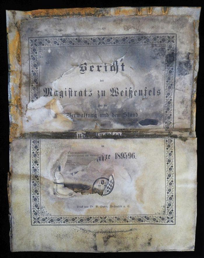 Abb. 10: Bericht des Magistrats zu Weißenfels für das Jahr 1895/96. © Landesamt für Denkmalpflege und Archäologie Sachsen-Anhalt, Heiko Breuer.