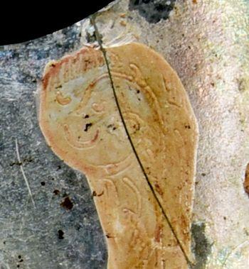 Abb. 5: Detail der Weihrauchwolke. © Landesamt für Denkmalpflege und Archäologie Sachsen-Anhalt, Vera Keil.