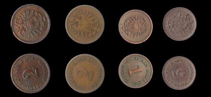Abb. 8: Vergleichsmünzen aus einem Internetshop © ma-shops.de, Bearbeitung: Friederike Hertel, Landesamt für Denkmalpflege und Archäologie.