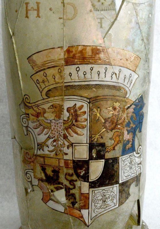Abb. 6: Detail mit dem Habsburgisch-Brandenburgischen Wappen. © Landesamt für Denkmalpflege und Archäologie Sachsen-Anhalt, Vera Keil.