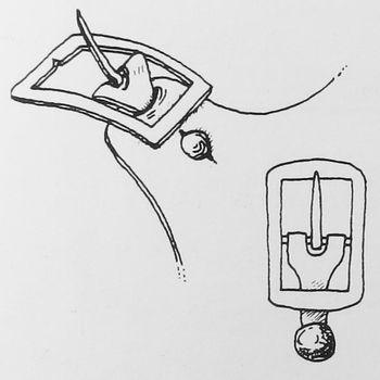 Abb. 11: Schnalle zum Einknöpfen an das Spangenende. Goubitz u.a. 2001, 291, Fig. 1.