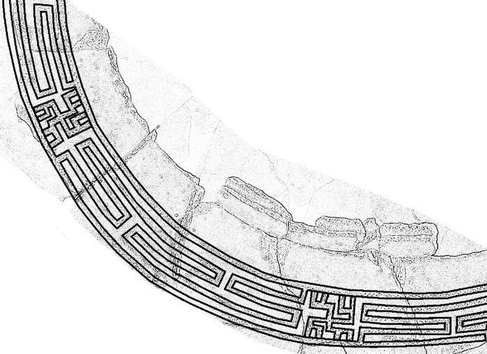 Abb. 5: Verzierungen auf der Urne - idealisierte Zeichnung. © Landesamt für Denkmalpflege und Archäologie Sachsen-Anhalt, Vera Keil.