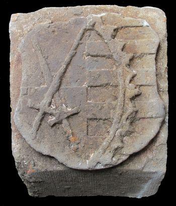 Abb. 8: Schlussstein mit dem sächsischen Kurwappen. © Landesamt für Denkmalpflege und Archäologie Sachsen-Anhalt, Johanna Reetz.