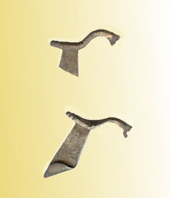 Abb. 3: Die beiden Silberfibeln. © Landesamt für Denkmalpflege und Archäologie Sachsen-Anhalt, Wolfgang Donath.