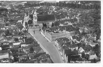Abb. 2: Postkarte Zerbster Markt Anfang des 20. Jahrhunderts. © Museum der Stadt Zerbst