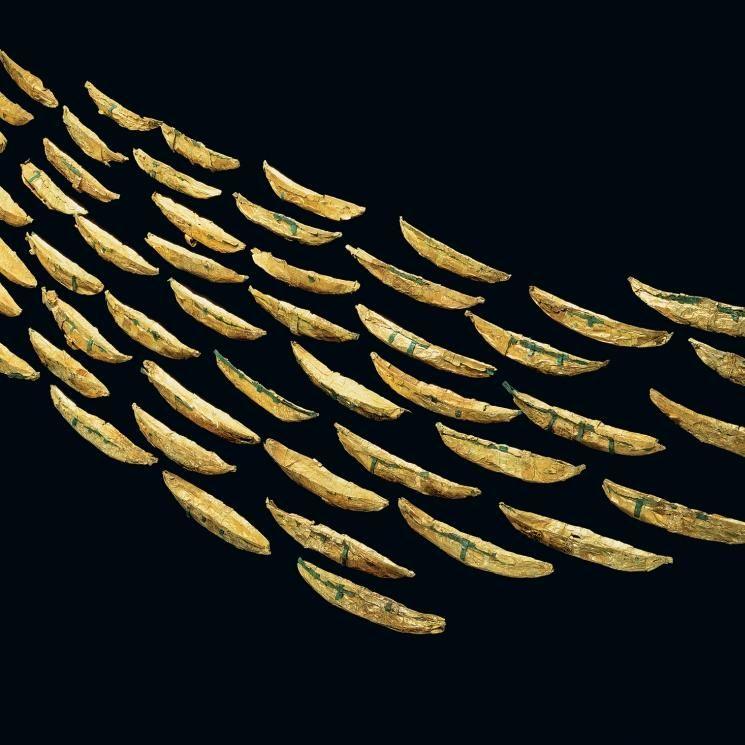 Goldschiffchen aus Nors (National Museum of Denmark, Kopenhagen). © Landesamt für Denkmalpflege und Archäologie Sachsen-Anhalt, Juraj Lipták.