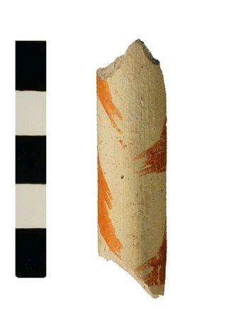 Abb. 5: Fragment eines keramischen Blasinstrumentes von der Schlossstraße 21/22, Wittenberg. © Landesamt für Denkmalpflege und Archäologie Sachsen-Anhalt, Ralf Kluttig-Altmann.