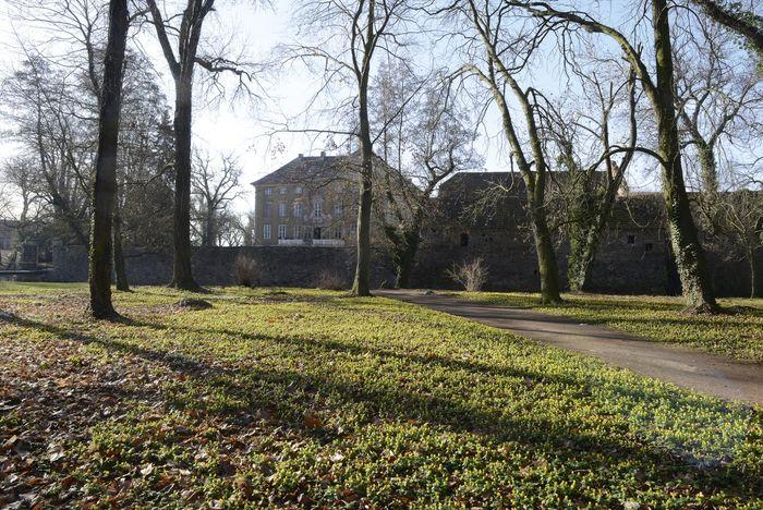 Abb. 1: Schlosspark mit Schloss Ostrau im Hintergrund. © Landesamt für Denkmalpflege und Archäologie Sachsen-Anhalt, Gunnar Preuß.