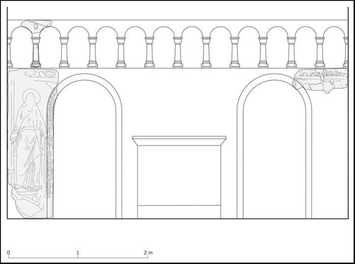 Abb. 9: Rekonstruktionsvorschlag für die Eilenstedter Schranke. © Landesamt für Denkmalpflege und Archäologie Sachsen-Anhalt, Bettina Weber.