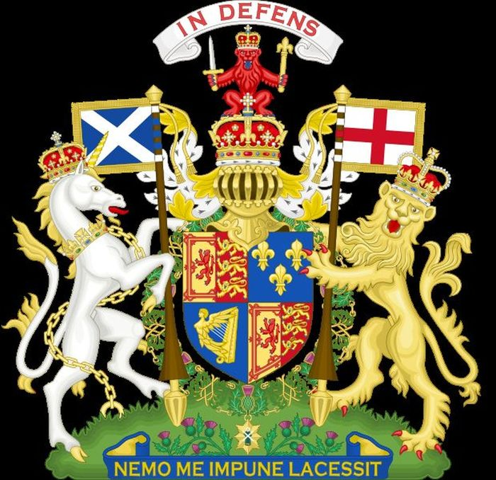 Abb. 8 Wappen der schottischen Könige mit der Ordenskette aus Disteln. (http://en.wikipedia.org/wiki/File:Coat_of_Arms_of_Scotland_%281660-1689%29.svg; zuletzt abgerufen am 30.06.2011).